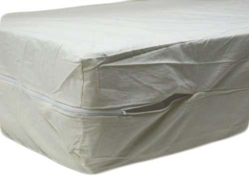 100% Cotton Fleetwood Cotton Mattress Cover, Full Size, Zips Around The Mattress