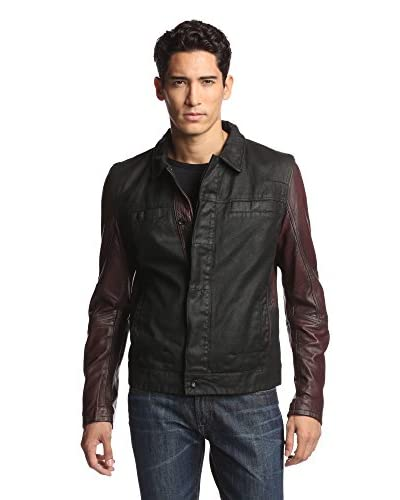 Rogue Men's Leather and Denim Jacket