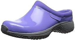 Merrell Women\'s Encore Slide Pro Shine Slip Resistant Work Shoe, Periwinkle Patent, 8 M US
