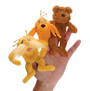 Dr. Seuss The Lorax Finger Puppet Set Plush by Dr. Seuss