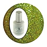 Gellure Hybrid Gel Nail Polish, Mistletoe Kisses Festive Glitter Green. From The Christmas Collection.