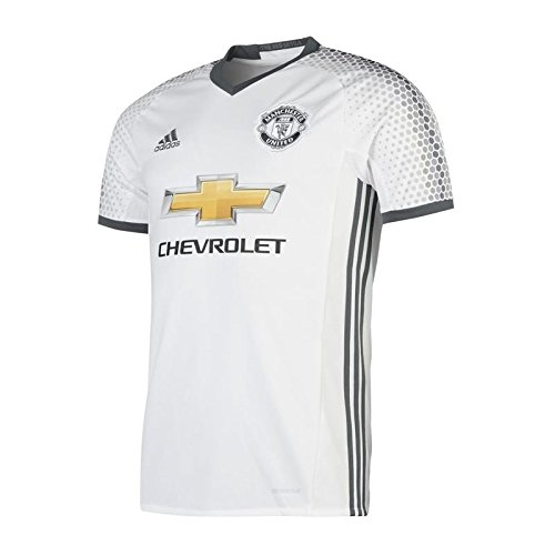 Adidas Manchester United FC Official 2016/17 SS Third Jersey - Adult - White/Bold Onix - Large (Manchester United White Jersey compare prices)