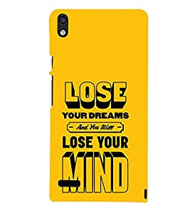 Lose Your Dreams Mind 3D Hard Polycarbonate Designer Back Case Cover for Huawei Ascend P6 :: Huawei P6 :: Huawei Ascend P6 Dual