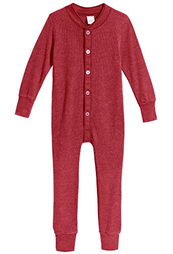 Red Union Suit Sleeper Pajamas with Funny Rear Flap