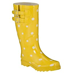 Product Image Women's Novel Dot Rain Boots - Yellow/White