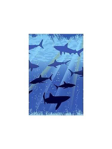 "Creative Converting Terrfic Bright Blue Shark Splash Plastic Tablecover, Rectangle, 54"" X 108"" Jouets, Jeux, Enfant, Peu, Nourrisson"