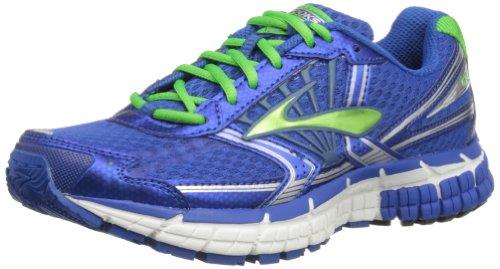 Browar Timing Systems - Sneaker Adrenaline GTS B, Unisex - bambini, Blu (Olympian Blue/Classic Green/White), 2 UK Child Regular