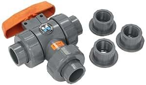 Hayward Tw1100ste 1 Inch Pvc Tw Series 3 Way True Union Ball Valve With Epdm Seals