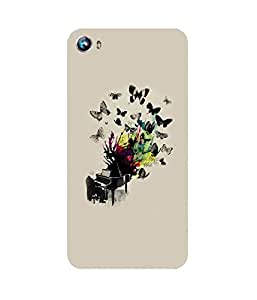 Butterflies Piano Micromax Canvas Fire 4 A107 Case