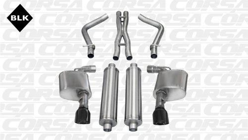 CORSA 14463BLK Cat-Back Exhaust System