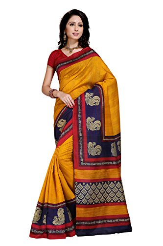 Samskruti Sarees Women's Abstract design Art Silk Saree(3016)
