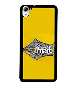 PRINTSWAG TYPOGRAPHY Designer Back Cover Case for HTC DESIRE 826