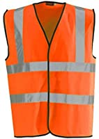 Baratec Hi Vis Vest Yellow & Orange Small To 6XL 2 Band & Brace