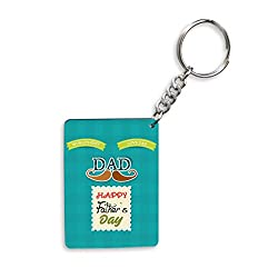 World's Best Love Dad Happy Father's Day Gifts For Father's Day Rectangle Wooden Keychain