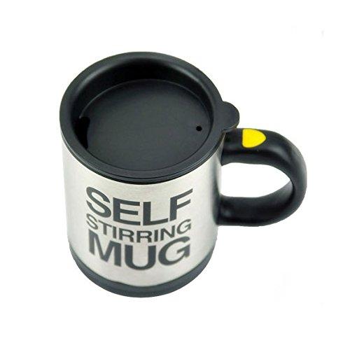 Chinatera Mélange de café automatique tasse à café éclectrique en acier inoxydable 350ml pour Paresseux (noir)