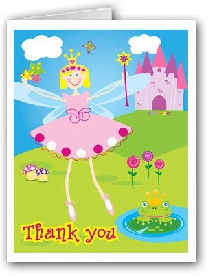 Young Fairy Princess and Castle Blank Thank You Note Cards 10 Boxed Cards and Envelopes