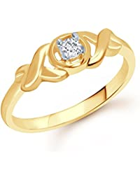 VK Jewels Fashion Finesse Gold And Rhodium Plated Ring- FR1263G [VKFR1263G]