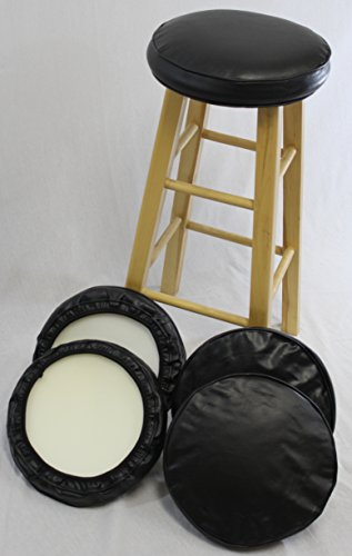 eHemco Bar Stool Cover With Foam Set of 4 (Bar Stool Covers Round Cushion compare prices)