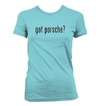 got porsche? American Apparel Juniors Cut Women's T-Shirt, Aqua, Small