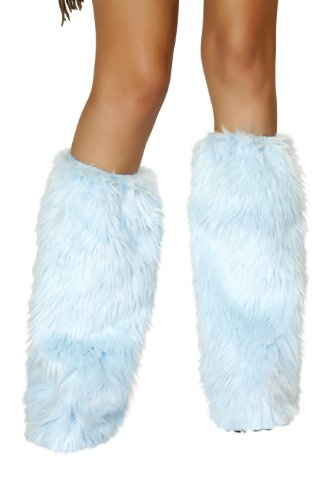 Roma Costume Women's Fur Boot Covers - Baby Blue
