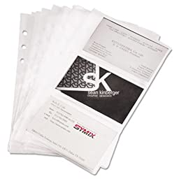 Samsill Products - Samsill - Business Card Binder Refill Pages, Six 2 x 3 1/2 Cards per Page, Clear, 10 Pages - Sold As 1 Pack - Expand or replace business card storage with these refill sheets. - Constructed with special non-glare vinyl. - Each business