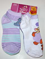 Disney Winnie the Pooh Girl's Low Cut Socks 4 Pair Shoe Size: 4-10 Multi-print/character