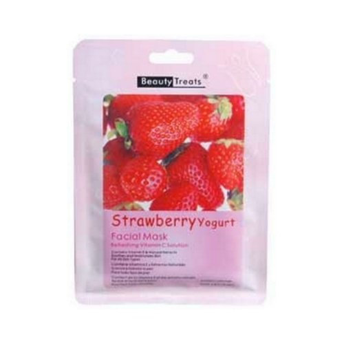 BEAUTY TREATS Facial Mask Refreshing Vitamin C Solution - Strawberry Yogurt