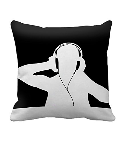 TIEDRIBBONS -Black Background With Music Cushion cover Gift For Wife Gift For Husband Cushion Cover (12x12)inch with filler  available at amazon for Rs.299