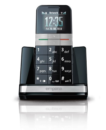 EMPORIA Elegance Plus OLED Display Bluetooth Notruffunktion Sprachansage Vibration hoergerätekompatibel inkl. Ladeschale