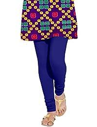 Meraj Saya Women's Dark Blue Cotton Lycra Legging