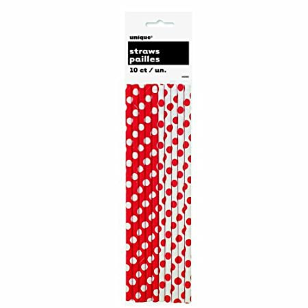 This holiday season, sip seasonal beverages in style at your home, office, or school holiday party with our Red Polka Dot Paper Straws. Use these Red Polka Dot Paper Straw to sip your favorite holiday drinks or arrange them in a container for a festi...