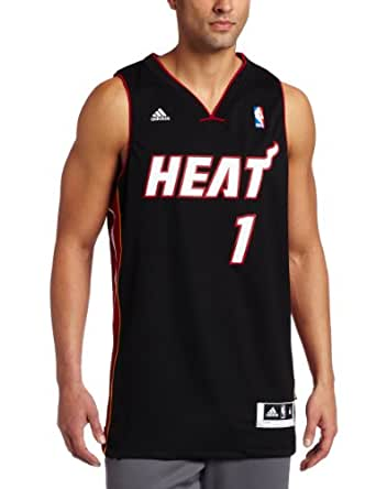 miami heat chris bosh mens black nba swingman jersey