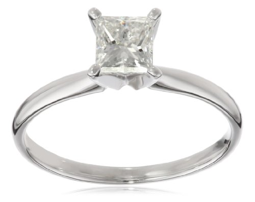 IGI-Certified-14k-Gold-Princess-Cut-Diamond-Engagement-Ring-10-carat-H-I-Color-SI1-SI2-Clarity