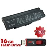 Battpit⢠Laptop / Notebook Battery Replacement for Sony VAIO VGN-FE31H (6600 mAh) with FREE 16GB Battpit⢠USB Flash Drive