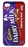 Iphone 4/4s white Cadbury Dairy Milk Fruit & Nut iphone case Free Next Day Delivery