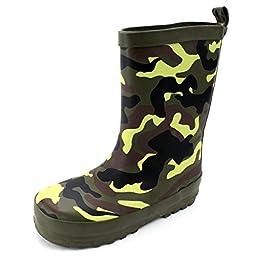 Camouflage Kids Rain Boots (2/3 M US Little Kid, Camouflage)