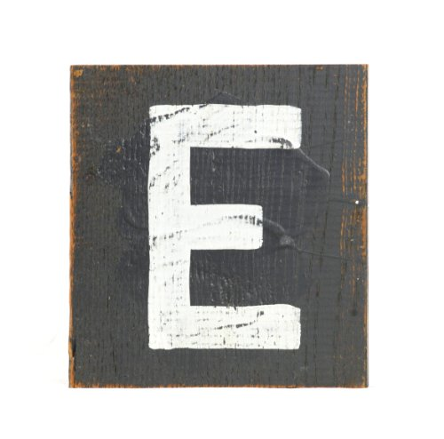 ZENTIQUE Wooden Letter, Small, Monogrammed E - 1