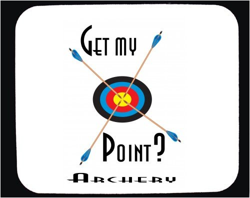 Decorated Mouse Pad with archery - get my point? image