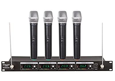 GTD Audio G-380H VHF Wireless Microphone System with 4 Hand held mics from GTD Audio