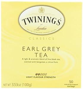 Twinings Earl Grey Tea, Tea Bags, 50-Count Boxes (Pack of 6)