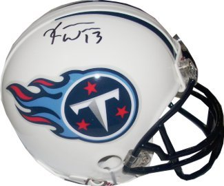 Kendall Wright signed Tennessee Titans Replica Mini Helmet- Wright Hologram at Amazon.com