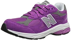 New Balance KJ990 Grade Running Shoe (Big Kid),Purple,7 M US Big Kid