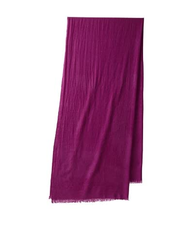Portolano Women's Lightweight Cashmere Scarf  - Plum Purple