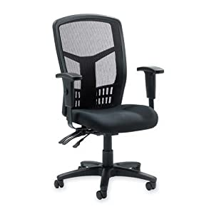 86000 Series Executive High-Back Chair, Mesh Fabric, Black