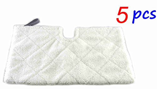 Astar ® 5 Pack Rectangle Compatible Replacement Microfiber Pads for Shark Euro Pro Pocket Steam Mop S3550 S3501 S3601 S3901 (Shark Steam Pocket Head compare prices)