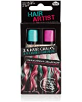 Teal and Pink Hair Chalk