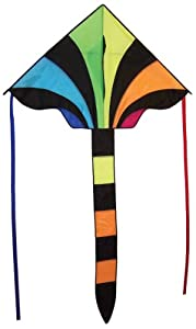 In The Breeze Rainbow Sparkler Fly Hi Delta Kite, 46-Inch