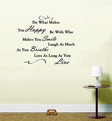 Do What Makes you Happy Quote Vinyl Wall Art Sticker Decal