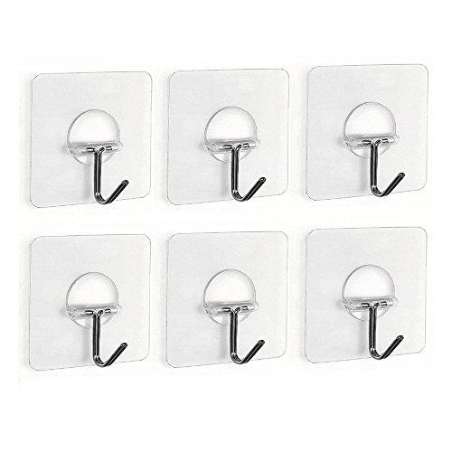 fealkira-132lb-6kgmax-nail-free-transparent-reusable-heavy-duty-wall-hooks-for-towel-loofah-bathrobe