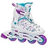 Roller Derby Girl's Stinger 5.2 Adjustable Inline Skate, Small